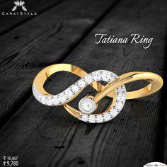 Shop tatiana ring now. India Jewelry, Gold Jewelry, Jewelry Rings, Jewelry Accessories, Designer Bangles, Designer Jewelry, Jewelry Design, Diamond Stone, Diamond Rings