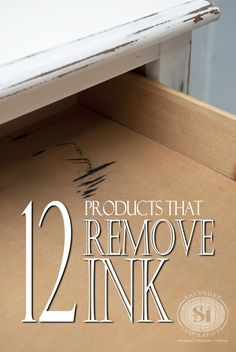Quick-Tip ~ 12 Products that remove ink from furniture!