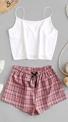 Cute Lazy Outfits, Teenage Outfits, Stylish Outfits, Cool Outfits, Cute Sleepwear, Sleepwear Women, Pajamas Women, Pajamas For Girls, Summer Pajamas