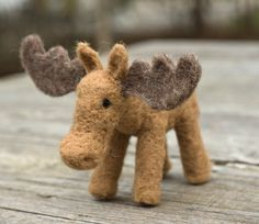 Needle Felted Moose by scratchcraft on Etsy