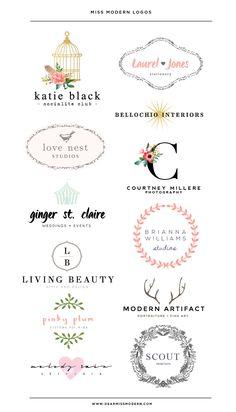 Miss Modern Shop Logos - Love Nest - Palm