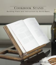 Learn How to Build a Cookbook Stand // FREE Building Plans at Build-Basic.com