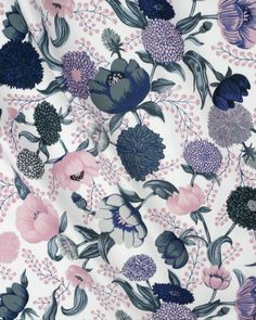 Liberty Twill Fabric - Blush Pink Floral
