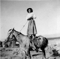 Women were required to work the land, shoot, hunt, and do just about everything that men were doing. This cowgirl represents the great women who ran the old wild west.