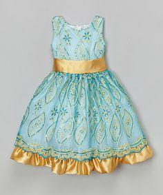 Look what I found on #zulily! Blue Floral Sequin Dress - Toddler & Girls by Kid Fashion #zulilyfinds