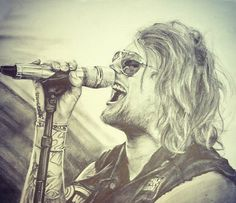 Amazing drawing of Danny Worsnop♡