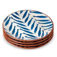 Blue Fish Salad Plate | Living | Mud Pie