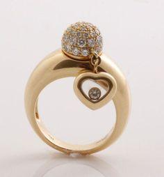 Idée et inspiration Bague Diamant : Image Description CHOPARD « Happy Diamonds » bigideamastermind…