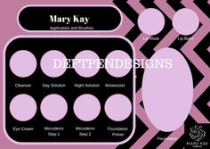 This digital download is for the Applicators and Brushes and Miracle Set Mary Kay cosmetic tray inserts. These high quality PDFs will be immediately available upon purchase and can be printed from your home or printing company of your choice.  For custom orders please start a conversation! I would love to create something special for your direct sale business. Matching printed business cards can be purchased separately.  I also offer the Timewise Repair and Timewise Miracle Tray Insert set…