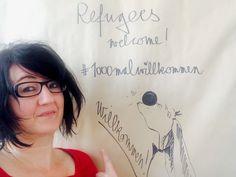 Refugees welcome! Willkommen. Welcome. Bienvenue. Sagt sinnundverstand.