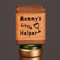 Branded Wood Wine stopper by DGwooddesigns on Etsy, $8.00