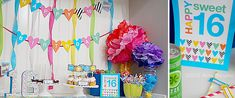 Sweet 16 Party Printables  - Birthday Party Supplies