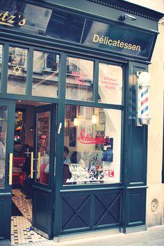 Schwartz's Deli, Paris Bistro Food, Cafe Bistro, Cafe Bar, Restaurant Marketing, Restaurant Paris, Restaurant Design, Restaurants, Storefront Signs, Montreal Quebec