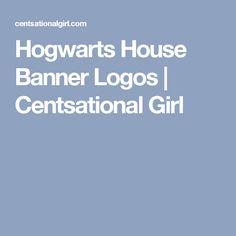 Hogwarts House Banner Logos   Centsational Girl