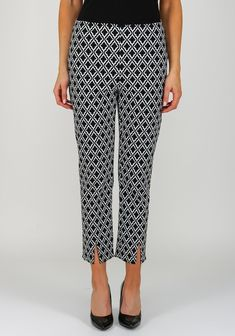 Joseph Ribkoff Printed Cropped Trousers, Black | McElhinneys