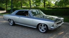 pro touring chevelle   Classic Car, Classic Cars, Old Cars, Muscle Cars, Car Sell bluish grey silver rushforth super spoke wheels 5 split star