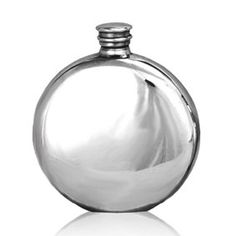 Round Pewter Flask