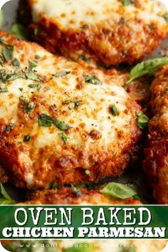 Oven Baked Chicken Parmesan, Chicken Recipes Oven, Ranch Cheddar Chicken, Keto Chicken Thigh Recipes, Moist Chicken, Pan Seared Chicken, Parmesan Pasta, Easy Marinara Sauce, Chicken Parmigiana