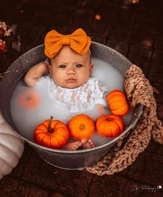 - List of the most beautiful baby products Milk Bath Photography, Newborn Baby Photography, Photography Kids, Fall Baby Pictures, Halloween Baby Pictures, Baby Pumpkin Pictures, Fall Photos, Baby Milk Bath, Milk Bath Photos