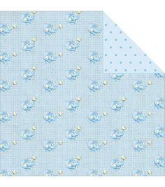 Fabscraps Royal Baby Blue Ellie Double-Sided Cardstock