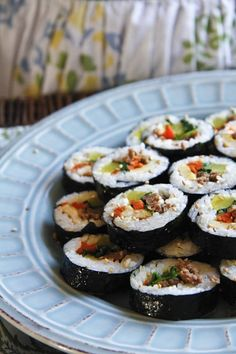 Easy Korean kimbap, or a delicious sushi roll with seaweed and beef. Easy Asian Recipes, Easy Delicious Recipes, Yummy Food, Korean Dishes, Korean Food, Korean Beef, Beef Sushi, K Food, Asian Cooking