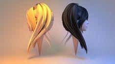 josette hair 3d model obj fbx blend 2