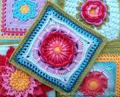 Prince Protea Square, free crochet pattern with tutorial on Look at What I Made