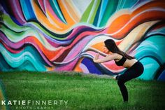 Street art during this Pilates + Yoga photo session in Rochester, NY | http://www.katiefinnertyphotography.com/blog/2016.3.9.hannah