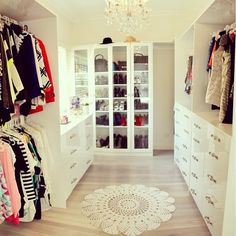 Decorating ideas for my walk in closet