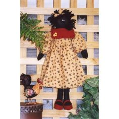 Polly the felt golliwog doll pattern