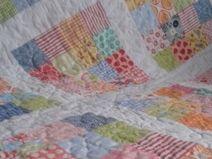 Supertolle bunte Baby Patchwork Decke gequiltet