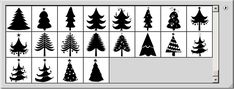 Christmas Tree Vector Shapes | PSDDude