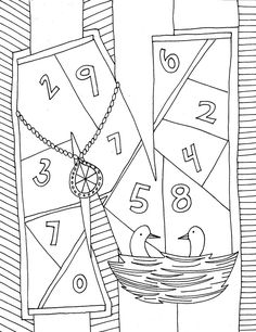 Letter N Coloring Page - (classroomdoodles)