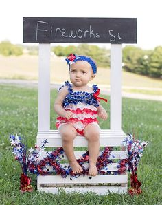 Fourth of July Lace and Satin Petti Romper by WillowandBean 4th Of July Photography, Photography Mini Sessions, Holiday Photography, Children Photography, Photo Sessions, Photography Props, Fourth Of July Pics, 4th Of July Party, July 4th