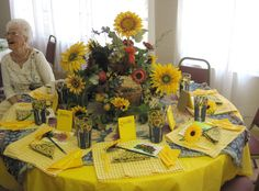 Lady's Tea- Sunflower Table