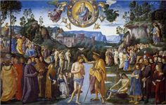 First Luminous Mystery: Baptism of Christ ~~Artist: Pietro Perugino, 1481~~