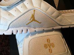 1daf4263818705 Air Jordan 12 Hydro Slides OVO Retro 873907 102 in Hand Flip Flops Size 12  XII