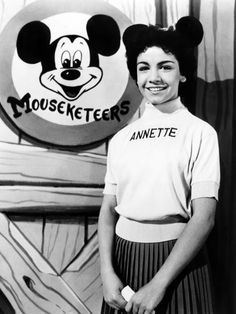 "ANNETTE FUNICELLO debuted as a Mouseketeer in October Walt Disney saw her performing the lead role in ""Swan Lake"" at her ballet school's recital and asked her to audition for the Mickey Mouse Show. Annette Funicello, Before I Forget, Before Us, Walt Disney, Disney Magic, Disney Art, Jim Henson, Mickey Mouse Club, Minnie Mouse"