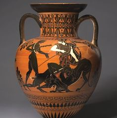 Egyptisk orange vase