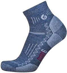 point6 Hiking Tech Medium Cushion Mini Crew Socks (Gray, Small) ** You can find out more details at the affiliate link of the image.