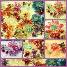 My Plastic Bottle Flower Garden :D Brooches and pins and charms ^_^  <3 Sheil