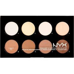 NYX COSMETICS Highlight & Contour pro palette ($28) ❤ liked on Polyvore featuring beauty products, makeup, nyx cosmetics, highlight makeup, nyx, palette makeup and nyx makeup