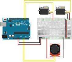 [Project 11] - 2 Servos Using a Joystick (thumbstick) + Arduino 2