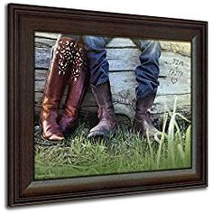Personalized Wedding Art Boots Love Framed Cowboy Country Print