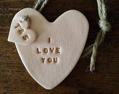 Heart decoration with personalised tag perfect for by TwoAndBoo