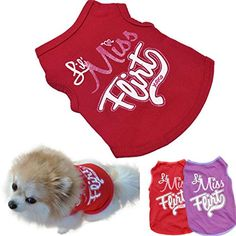 2017 Hot Pet Vest AMATM Pet Puppy Small Dog Clothes Chihuahua Cotton Printed Vest TShirt Doggy Summer Apparel Costume S Red ** Continue to the product at the image link.