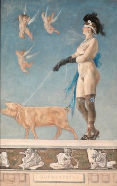 Pornokratès, 1878, Félicien Rops, Musée Félicien Rops, Public Domain Mark