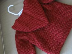 Autum rojo Crochet bebé niño suéter con por ForBabyCreations