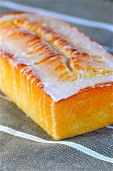 Lemon Drench Yogurt Cake ! YUM !