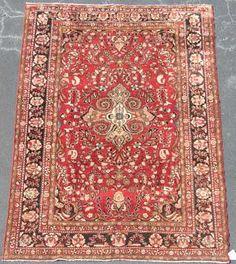 "Hand Woven Lilihan Rug or Carpet, 7' 6"" x 11'"
